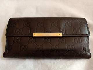 Preloved Gucci Authentique Leather Wallet