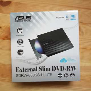 ASUS External Portable DVD-RW DVD Writer Drive