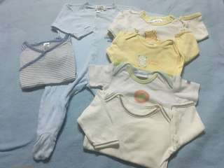 Combo boy 3-6m sleepsuit rompers