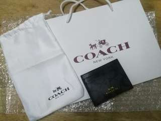 Coach authentic card holder