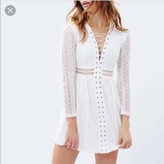 Bardot lace gigi dress white/ivory