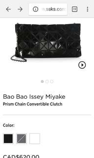 BaoBao Issey Miyake prism chain convertible clutch