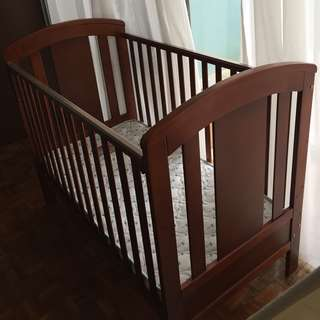 4 in 1 Convertable Baby Cot (Brown)