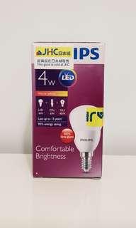 Philips Light Bulb 4W LED 飛利浦led燈膽