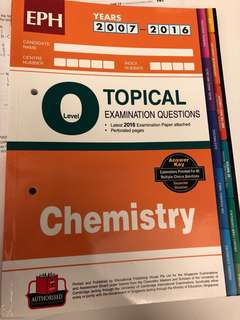 O Level Chemistry Ten Year Series (TYS) Topical 2007-2016