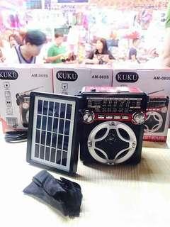 fm radio solar panels