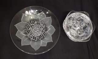 Antique CRYSTAL fruit plate and sweet container