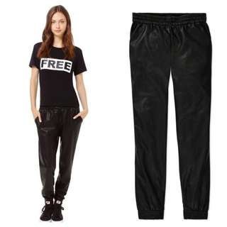$165 Wilfred Free Faux Leather Pants