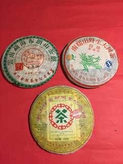 2006 年普洱茶青餅組合:如相片所示