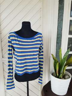 H&M Blue Stripes Longsleeves