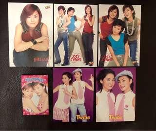 Twins postcard+memo