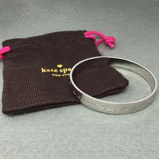 Kate spade New York Sample Bangle 銀色手鈪 直徑6.5 cm