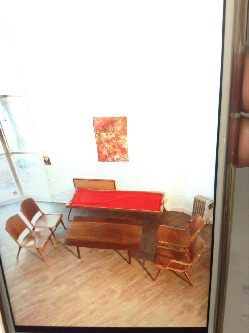 4 Hvidt & Molgaard chairs and 1 Elevator table 4 Hvidt & Molgaard chairs and 1 Elevator Table by Kai Kristiansen