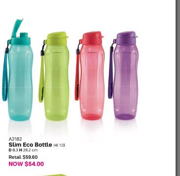 4pcs tupperware eco flip top bottle 1L with strap, Home Appliances, Kitchenware on Carousell