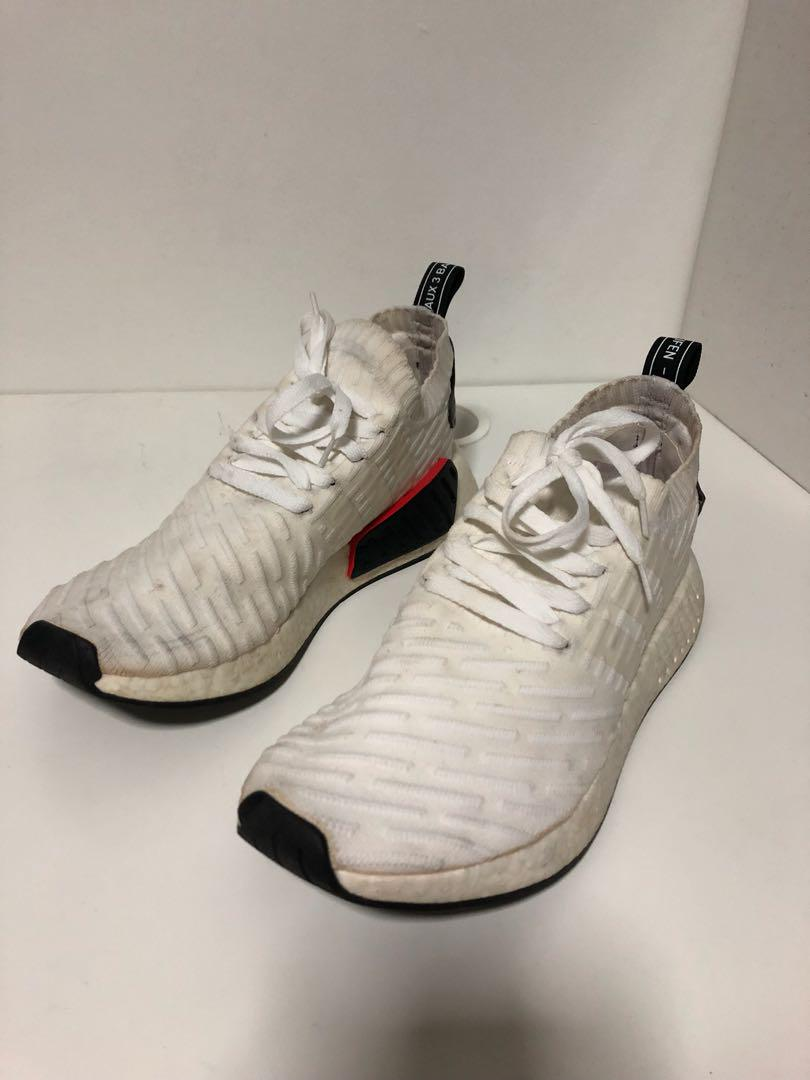 Adidas Nmd R2 Pk White Men S Fashion Footwear Sneakers On Carousell
