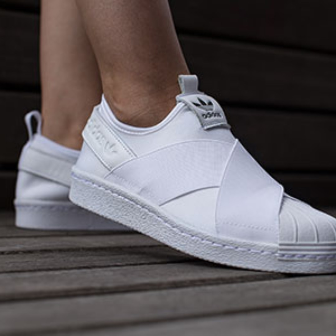 bafc2ac2c83 ADIDAS SUPERSTAR SLIP-ON SHOES - WHITE - SIZE 36 / UK 3 - 3.5 ...