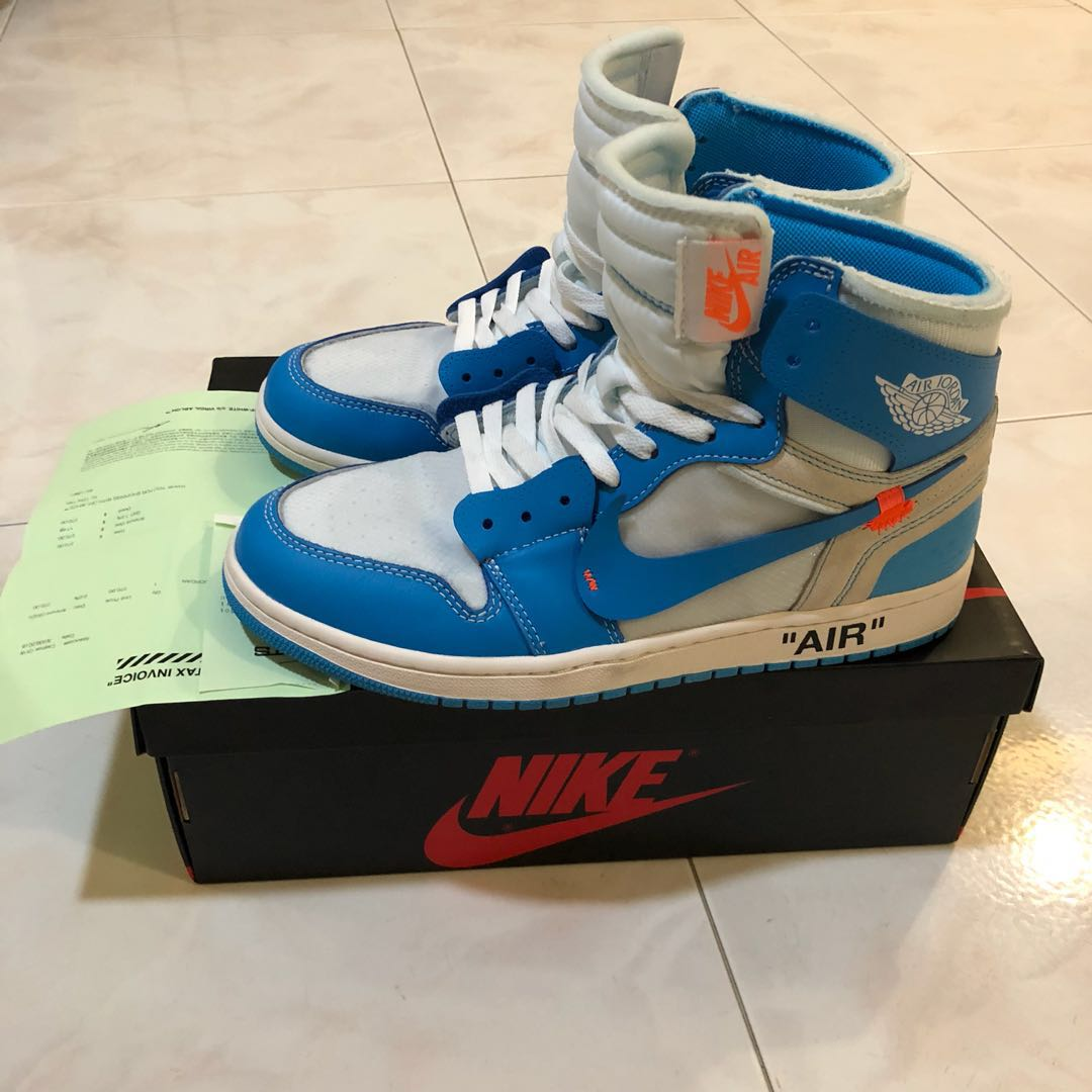 ee4b2207059536 Air Jordan 1 UNC us10.5