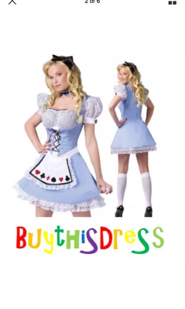 Alice in the Wonderland Lovely Women Costume AU Size 8/10/12