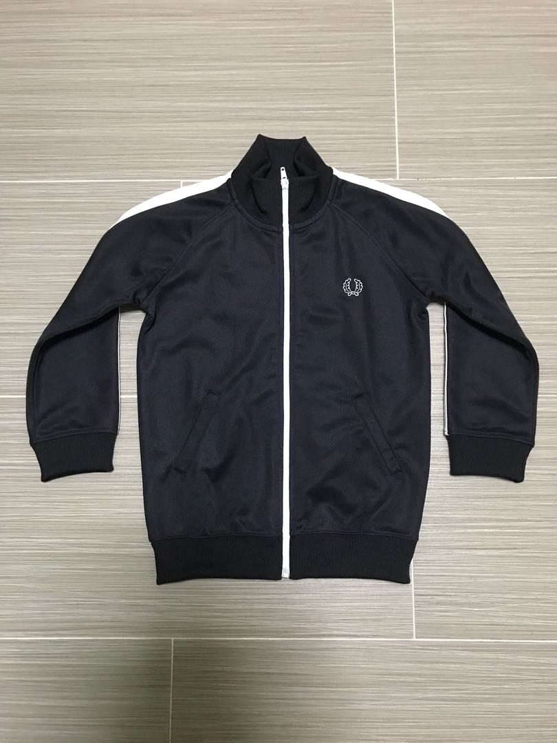 6cf3ba1d2 Authentic Fred Perry Kids / Boys Black Bomber Jacket
