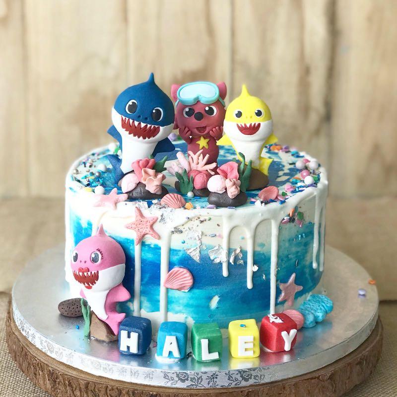 Baby Shark Cake 1st Birthday Cake Kids Cake Customised Cake Free