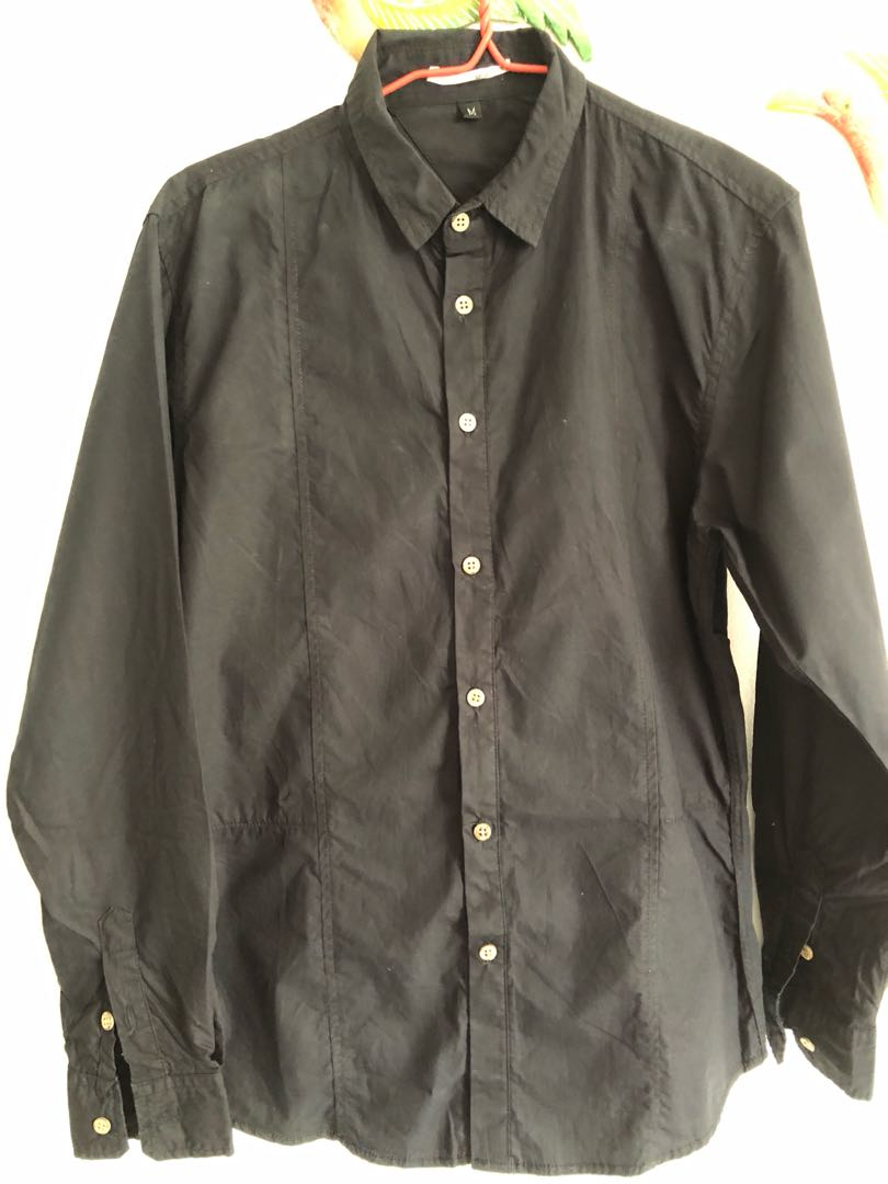 d1d84610f733 BLACK GRAPHITE SHIRT, Men's Fashion, Clothes, Tops on Carousell