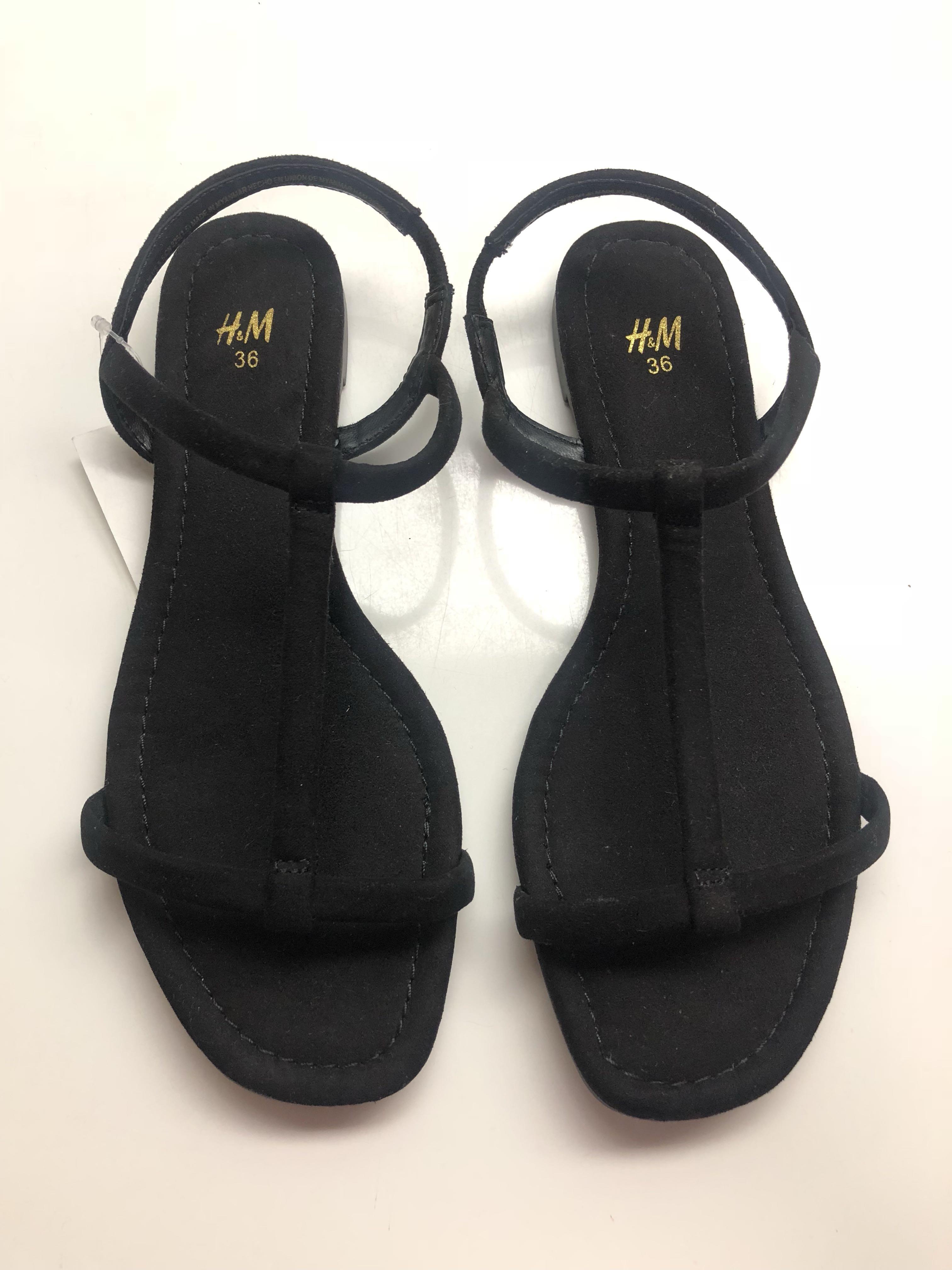 BNWT H\u0026M Black Sandals in EU36, Women's