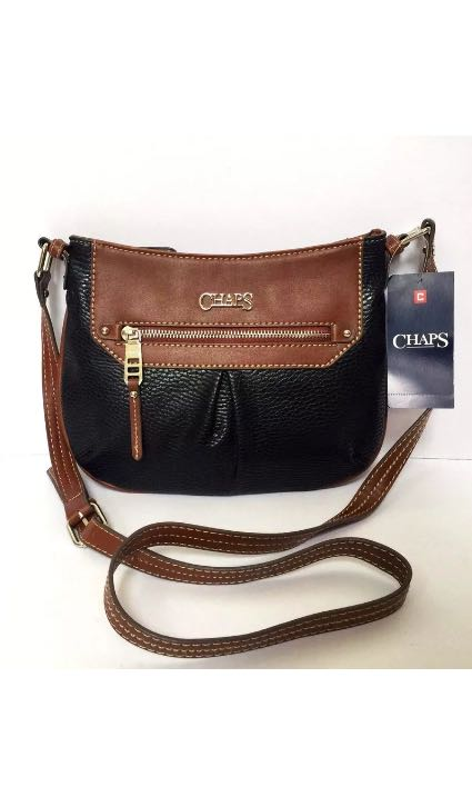 2c29405021cb Brand New and 100% Authentic! CHAPS Paige Crossbody in Black   Brown ...
