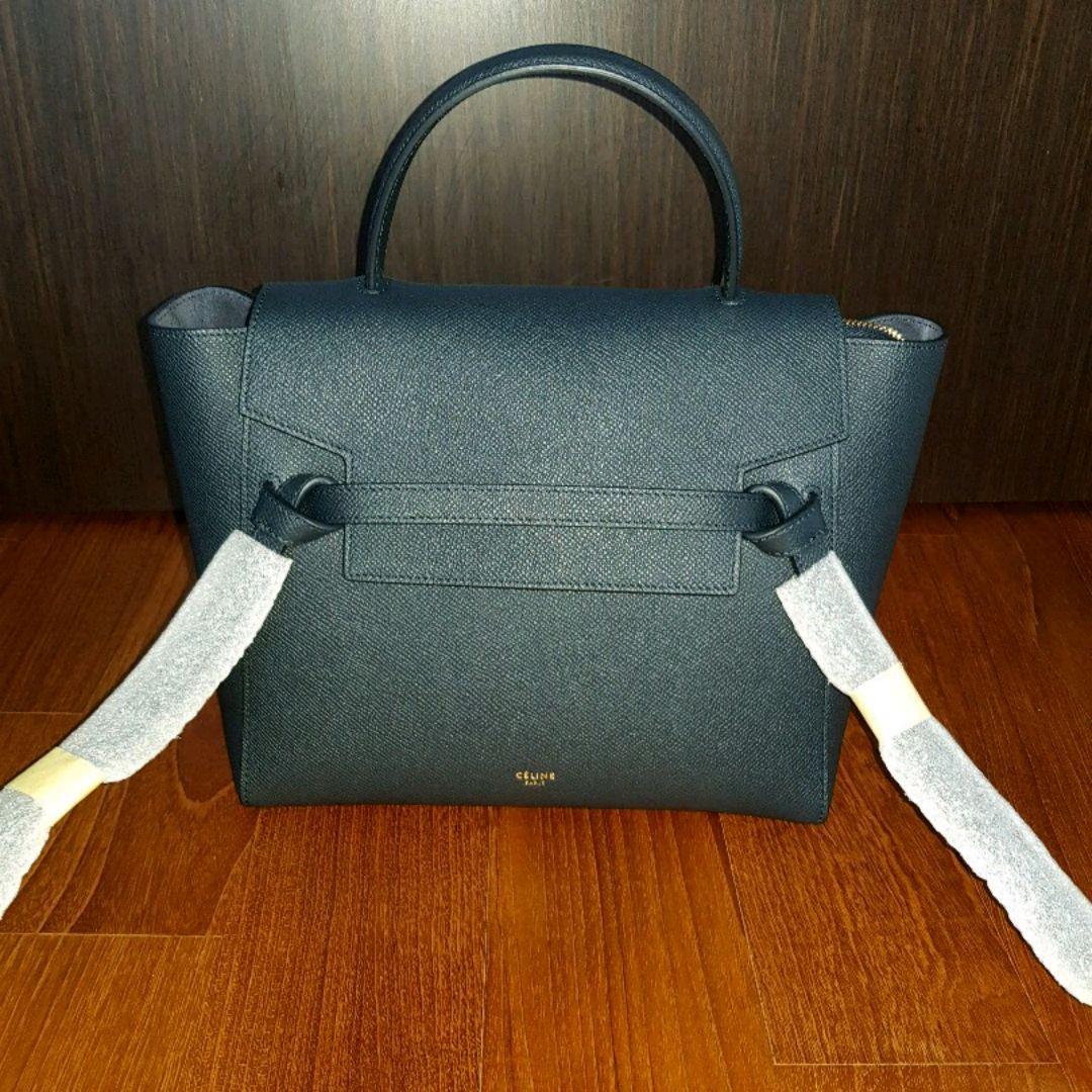 Brand New Celine Micro Belt Bag Navy Blue Luxury Bags Wallets Handbags On Carousell