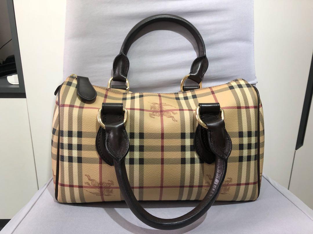 16e17ceafca6 Burberry Haymarket Bowling Bag