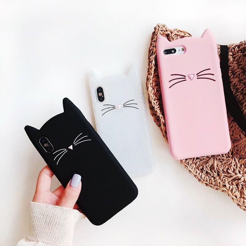 pretty nice 2c336 a2a62 Cat Kitty Ear Phone Cover