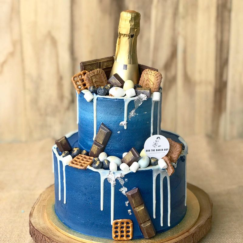 Champagne Birthday Cake, 21st Birthday Cake, Elegant, Classy, Cool ...
