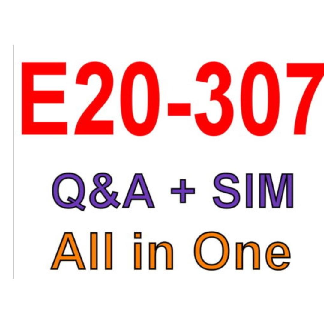 EMC Best Exam Practice Material For E20-307 Exam Q&A+SIM