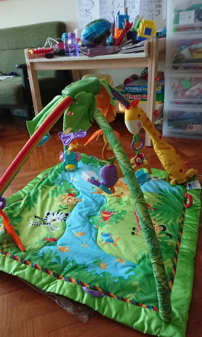 Fisher price 音樂玩具墊連動物玩具