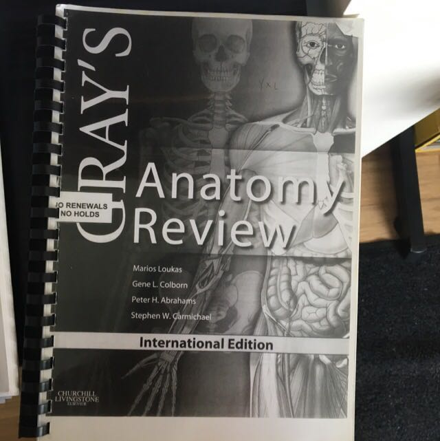 Grays Anatomy Review Book Free Notes Textbooks On Carousell