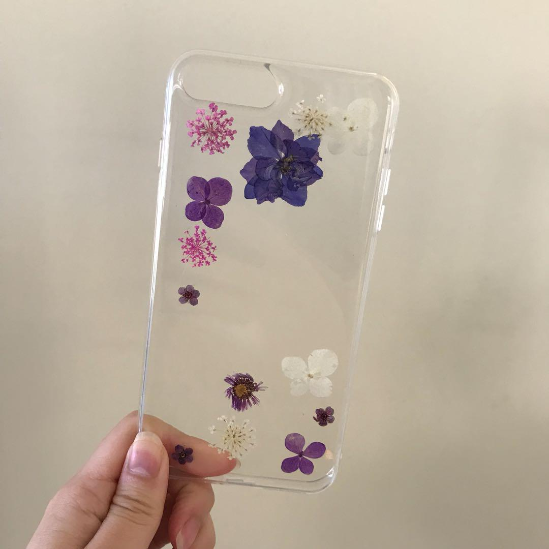 Handmade Pressed Real Flower Phone Case for iPhone 7/8 Plus