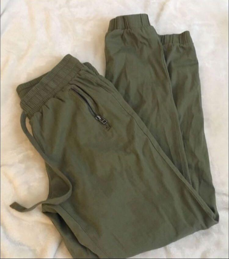 High rise cargo pants