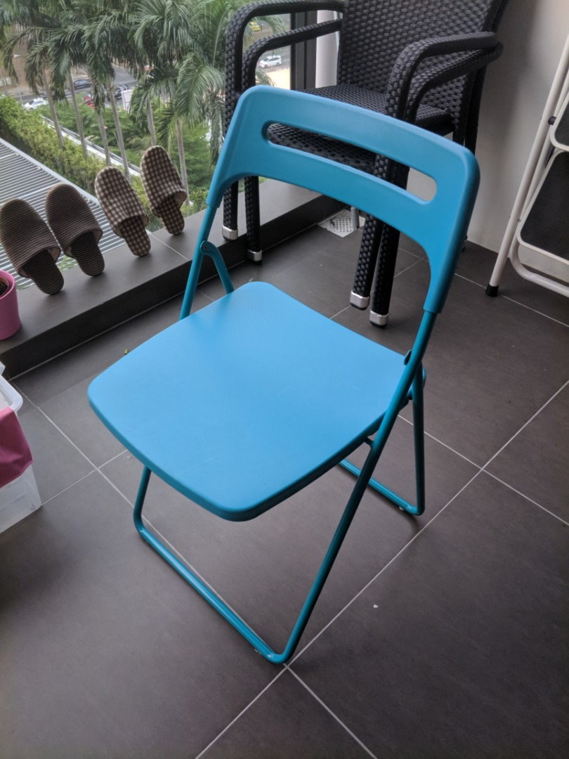 Super Ikea Folding Chair Furniture Tables Chairs On Carousell Squirreltailoven Fun Painted Chair Ideas Images Squirreltailovenorg
