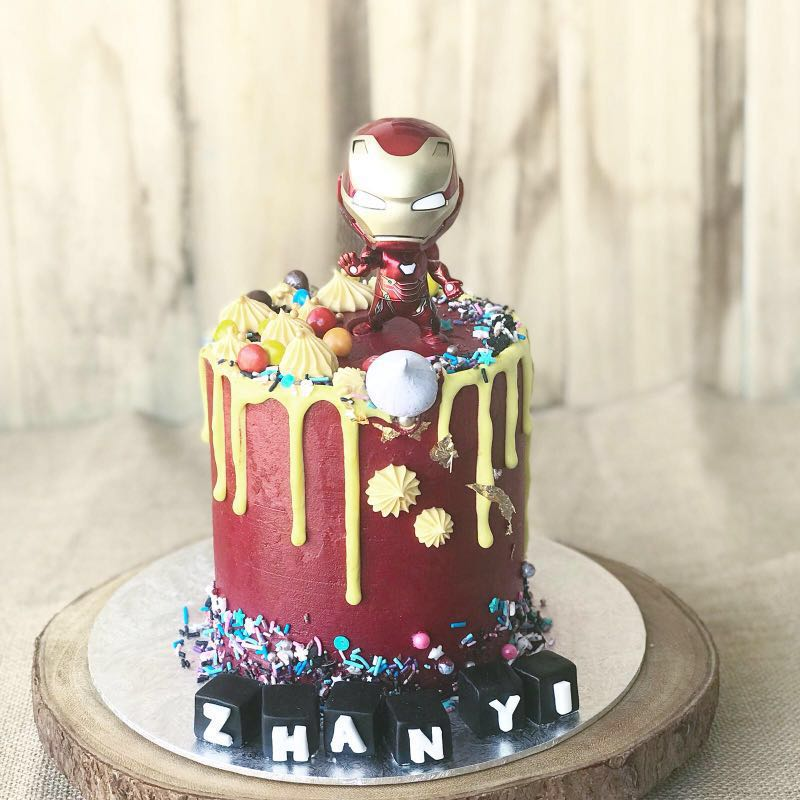 Iron Man Cake Superhero Mens Birthday Customised