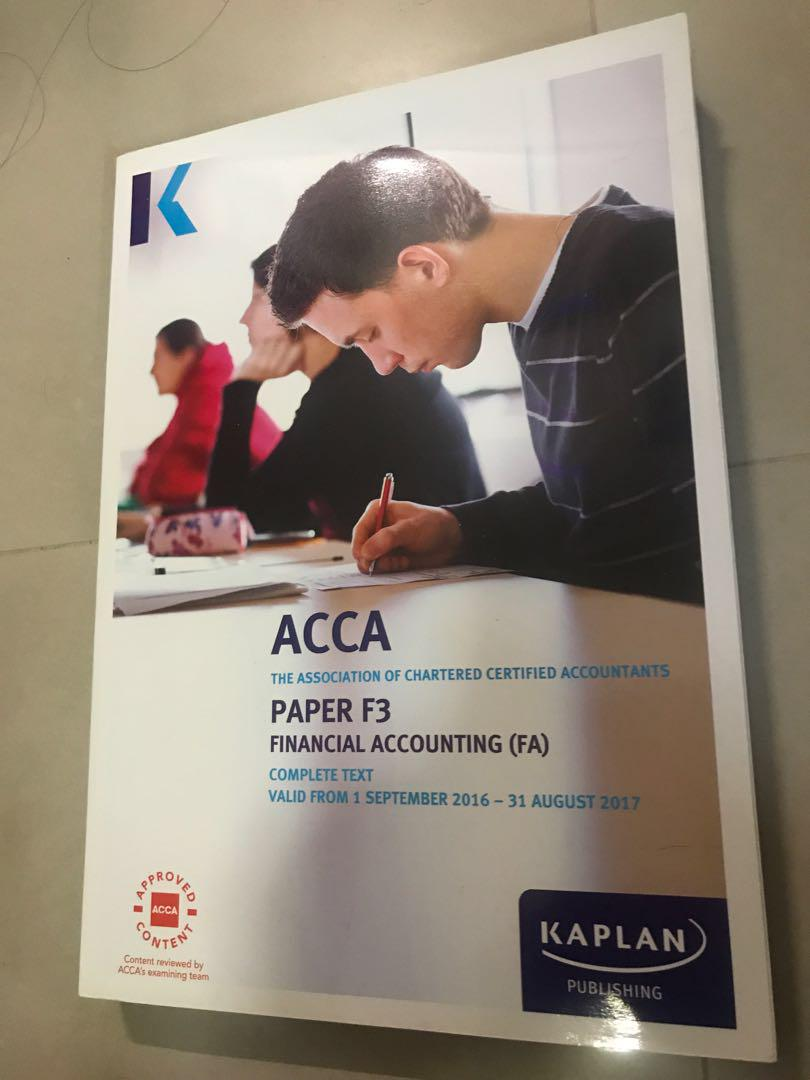Kaplan ACCA F3 Financial accounting, Books & Stationery