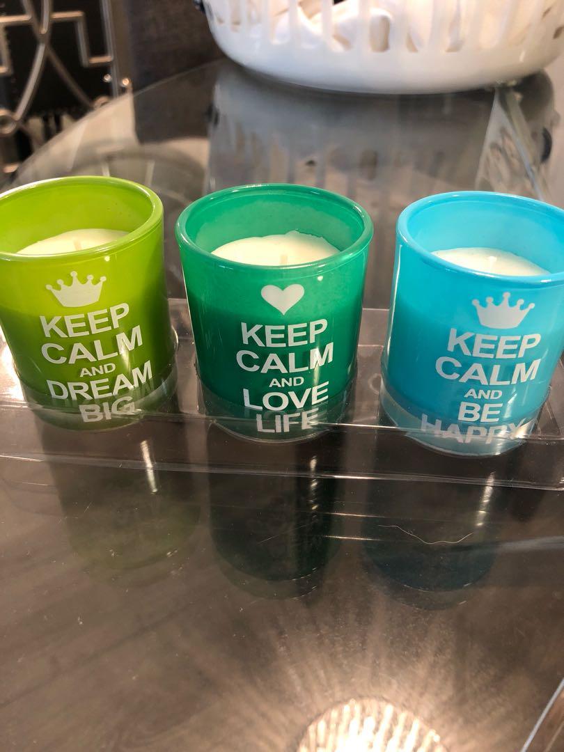 Keep Calm candle set