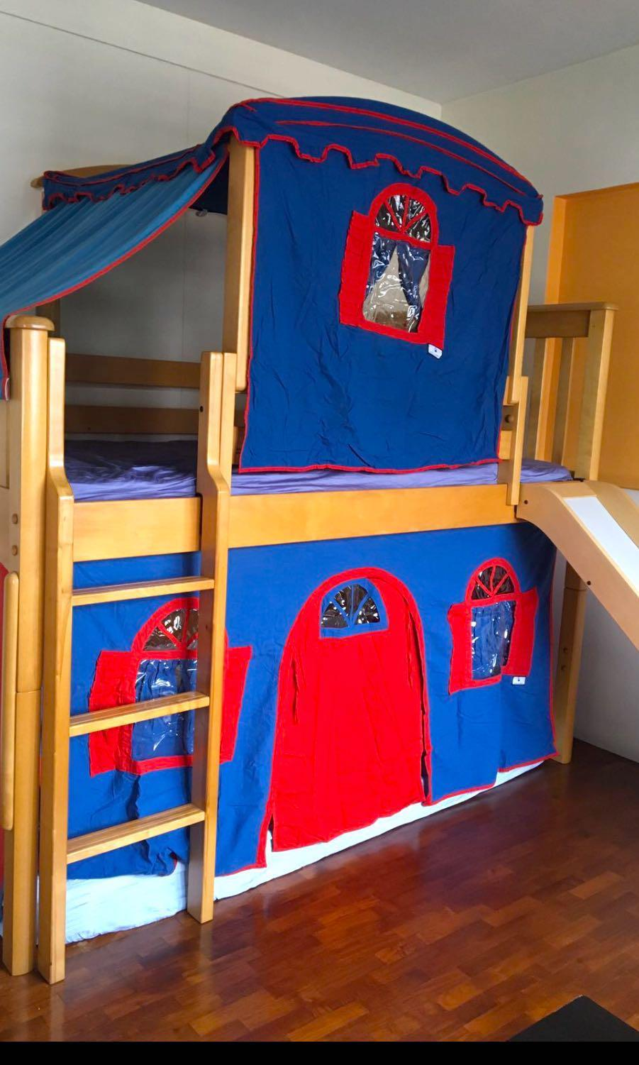 Kids Castle Bunk Bed For Sales Furniture Beds Mattresses On Carousell