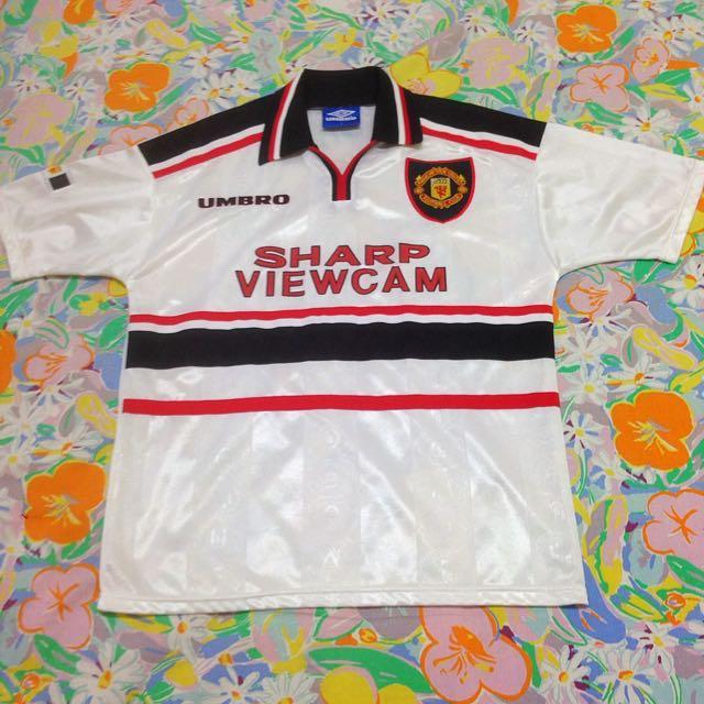 7d32d6a773e Manchester United 1997   1999 Away Kit Jersey Shirt Camiseta Maglia ...