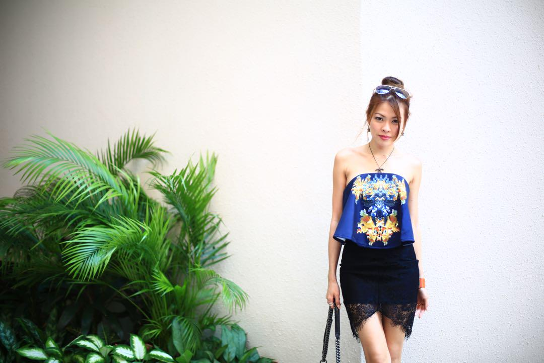 MDS Floral Tube Top