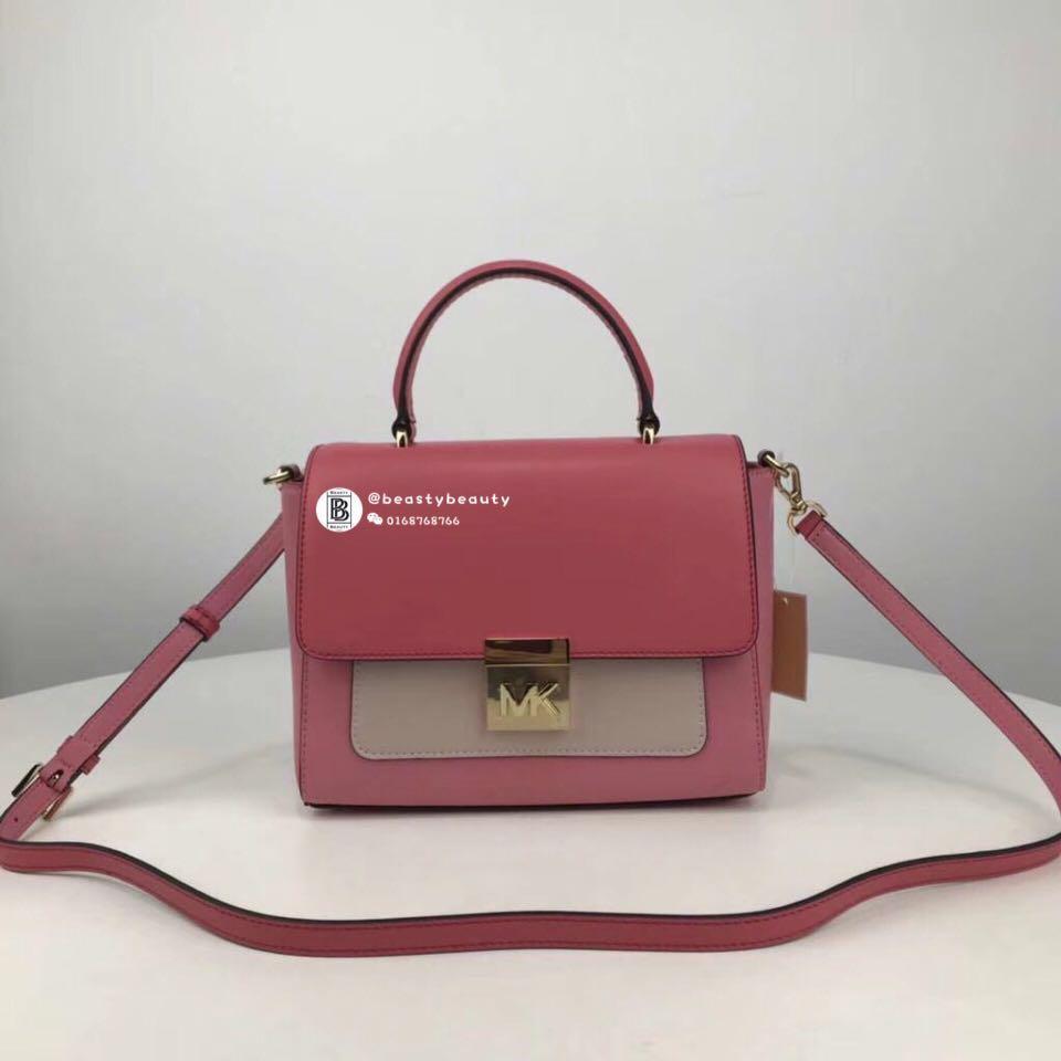 Michael Kors Mindy Satchel   Crossbody Bag - pink 43b5de0b7ef12