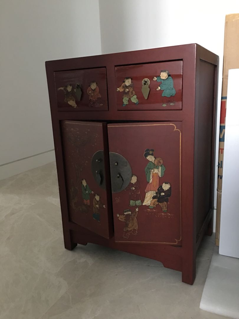 Old Chinese Style Cabinet Side Table