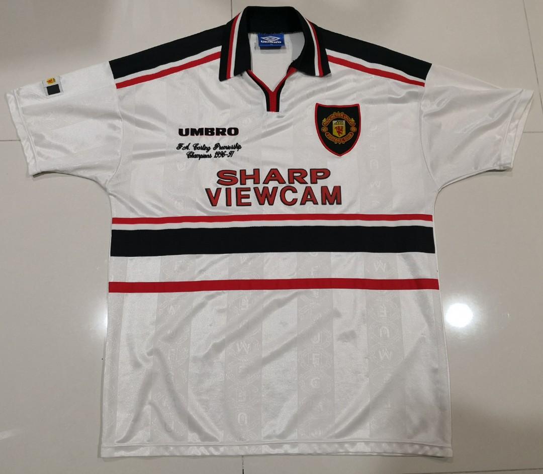 5c6b26184 Original Manchester United 1997 away jersey jersi