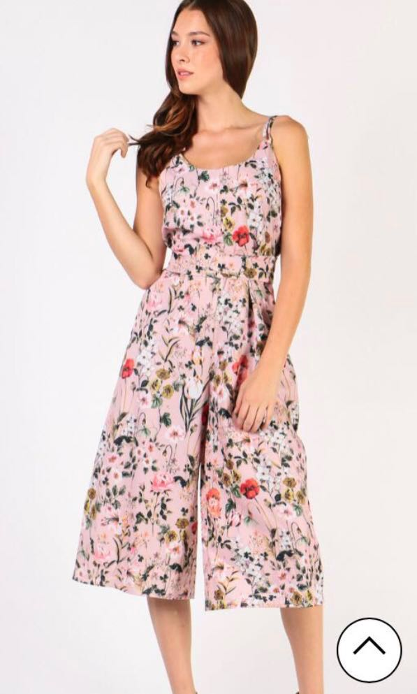 2019 authentic pretty cheap amazing selection Pink Floral Jumpsuit