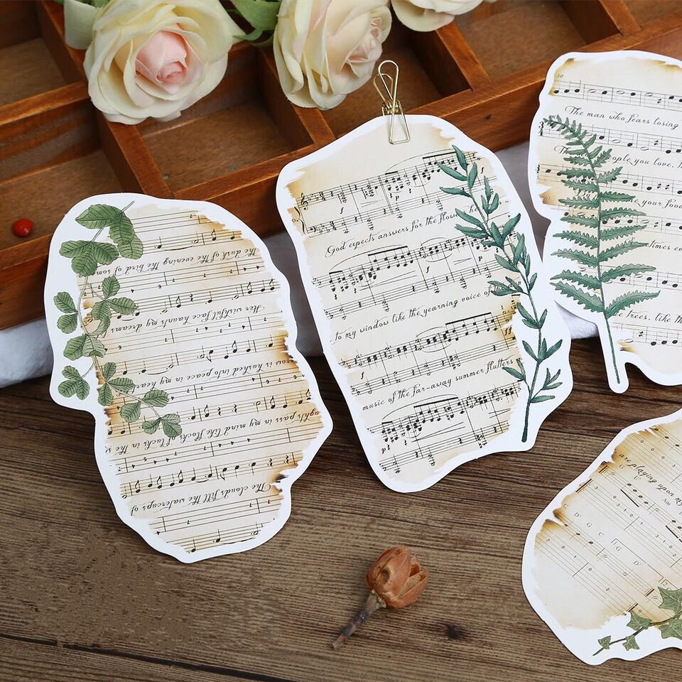 Po Old Music Sheets Postcards Post Card