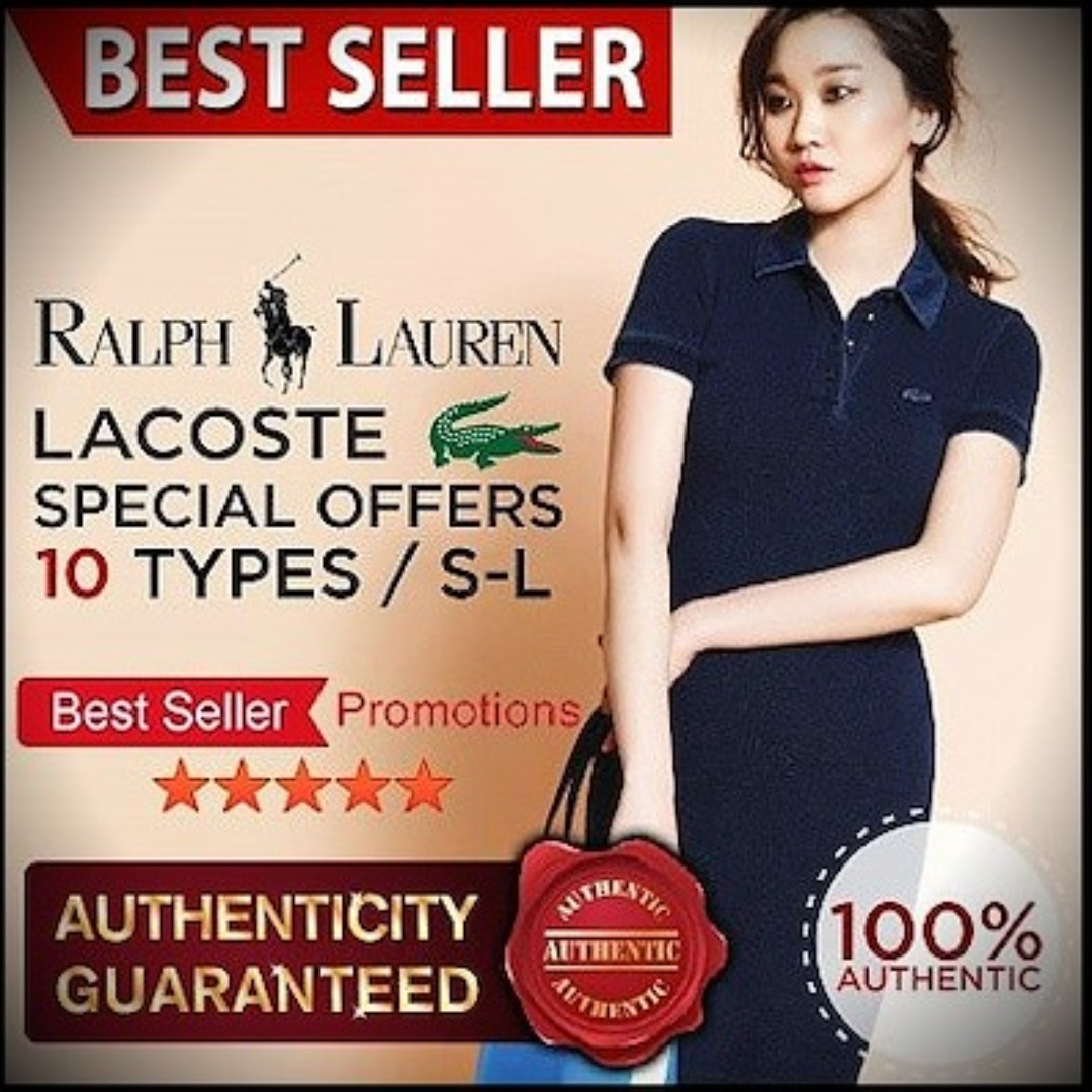 6cb9df4f5 Polo By Ralph Lauren☆ Only Qoo10 Special Offers ☆ Lacoste PK Women ...