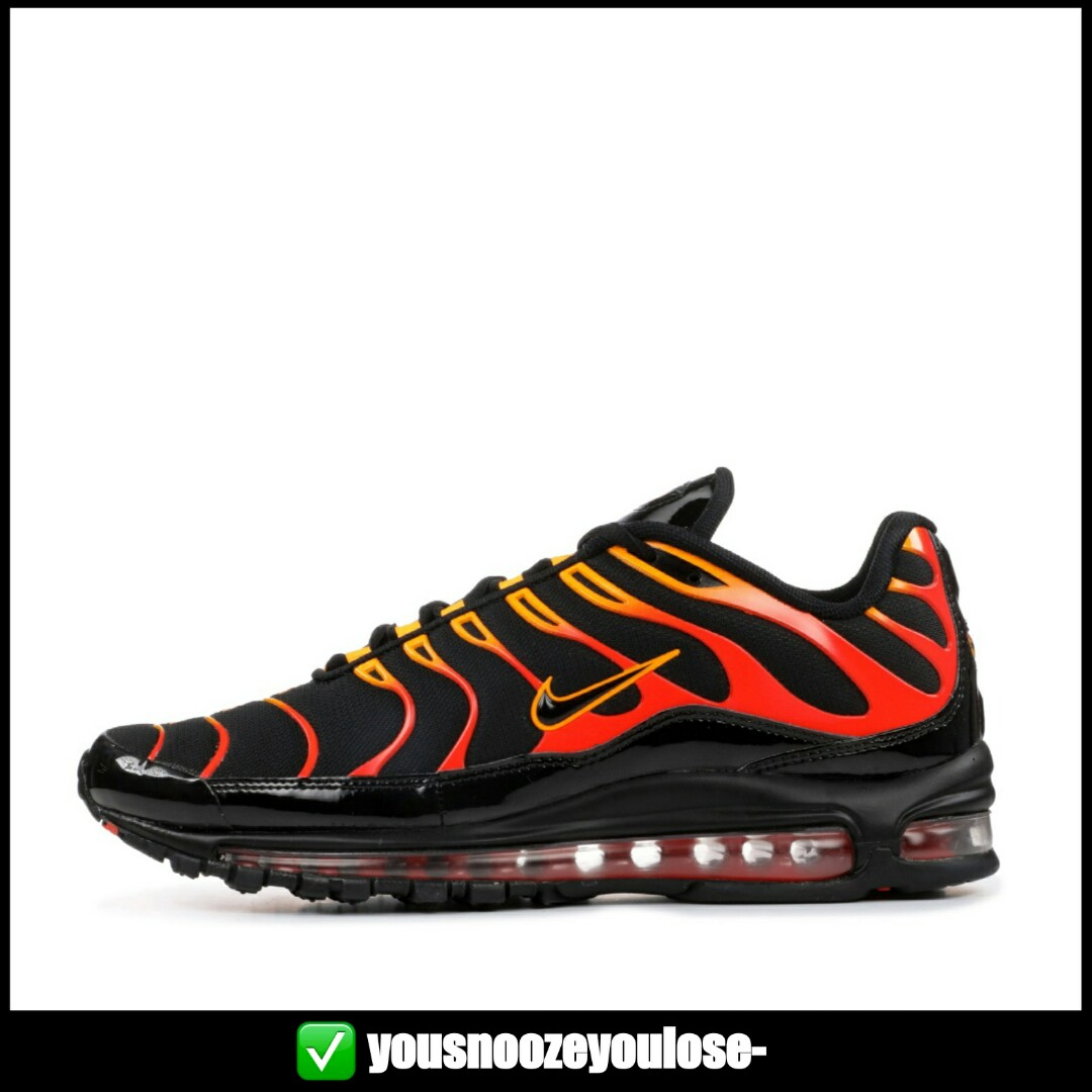 ab88c32455de3 PREORDER] NIKE AIR MAX 97 PLUS SHOCK ORANGE / ENGINE / FLAMES ...